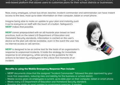 Mobile Emergency Response Plan Flyer