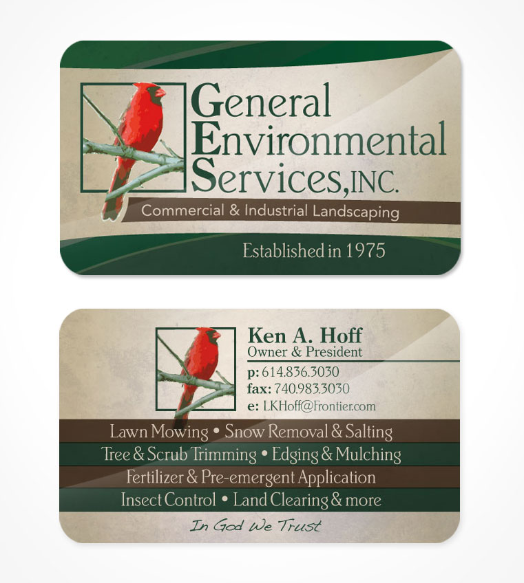 Business card design in transit studios general environmental services colourmoves