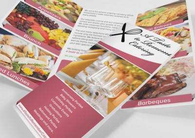 A Taste To Remember Catering Brochure