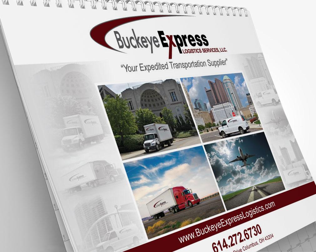 Logistics Calendar Design : Buckeye express logistics calendar in transit studios