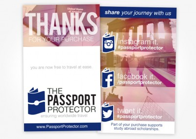 Passport Protector - Thanks For Purchasing Insert