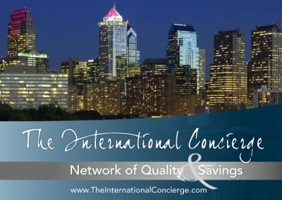 International Concierge Postcard - Front