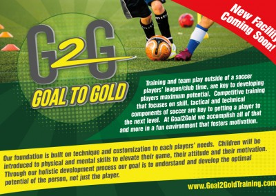 Goal2Gold Postcard - Front