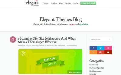 Our Work Recently Featured in the Elegant Themes Blog!
