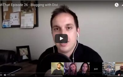 Guest appearance on Divi Chat Episode 26 – Blogging with Divi