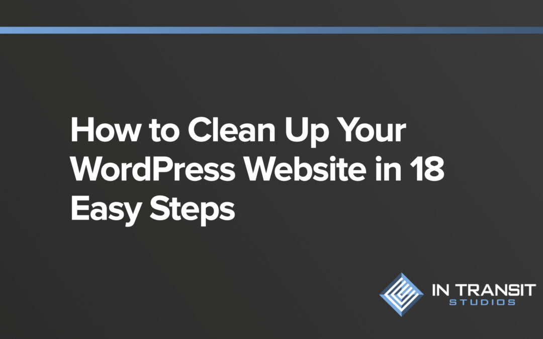 How to Clean Up Your WordPress Website in 18 Easy Steps.001